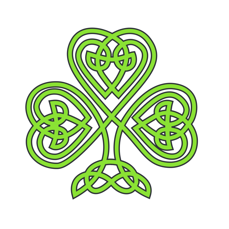 Illustration of a shamrock.