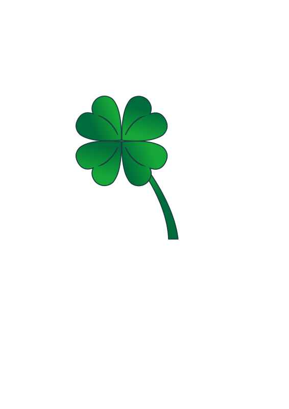 Four Leaf Clover | Free Stock Photo | Illustration of a four leaf ...