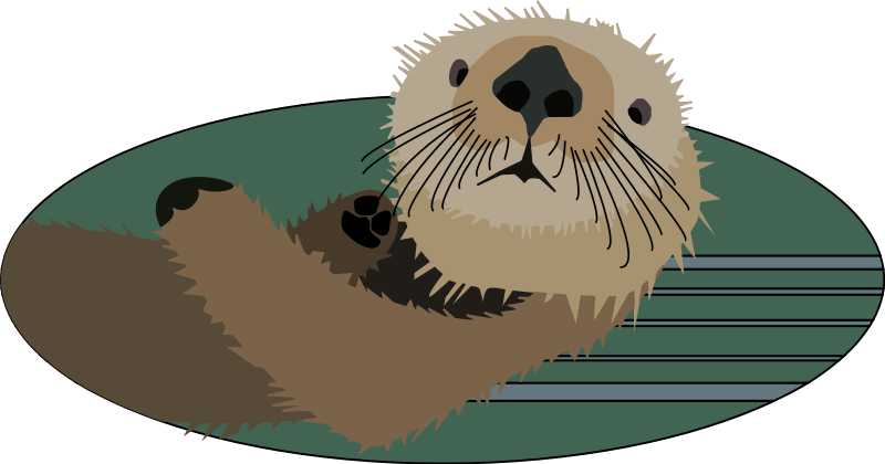 Illustration of a sea otter : Free Stock Photo