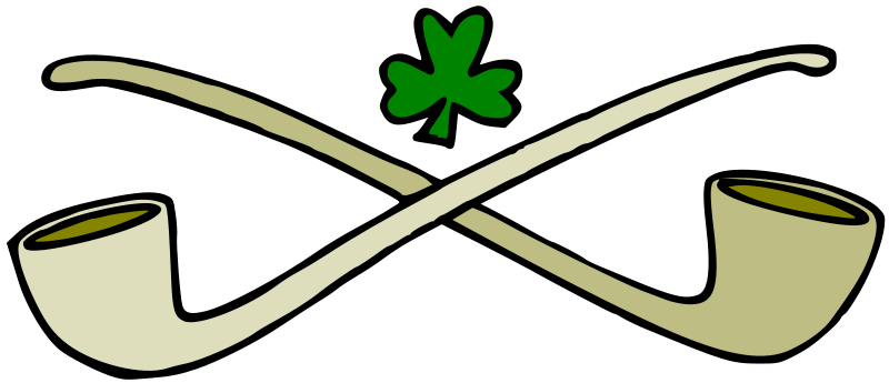 Illustration of a shamrock and pipes : Free Stock Photo