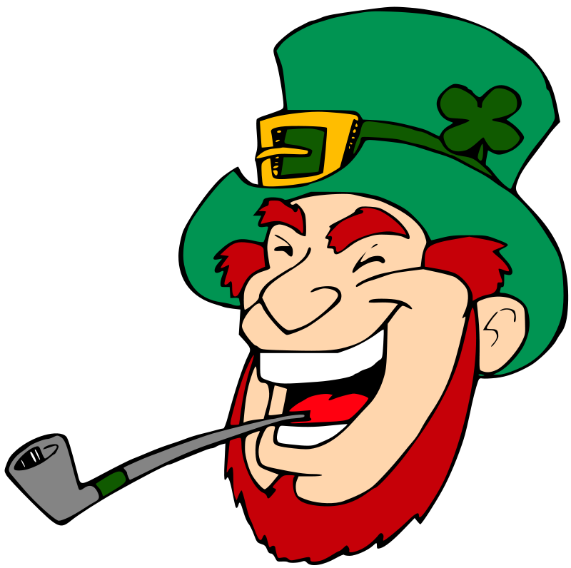 Illustration of a laughing leprechaun : Free Stock Photo