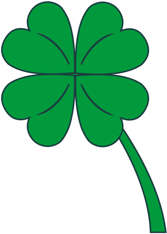 Illustration of a four leaf clover : Free Stock Photo