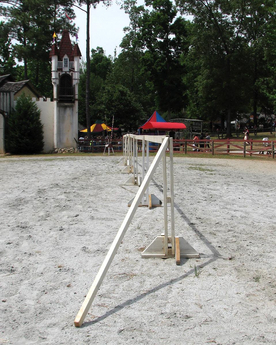 A jousting arena at the 2011 Georgia Renaissance Festival : Free Stock Photo