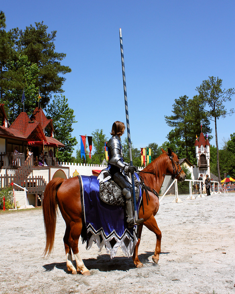A knight on a horse at the 2011 Georgia Renaissance Festival : Free Stock Photo