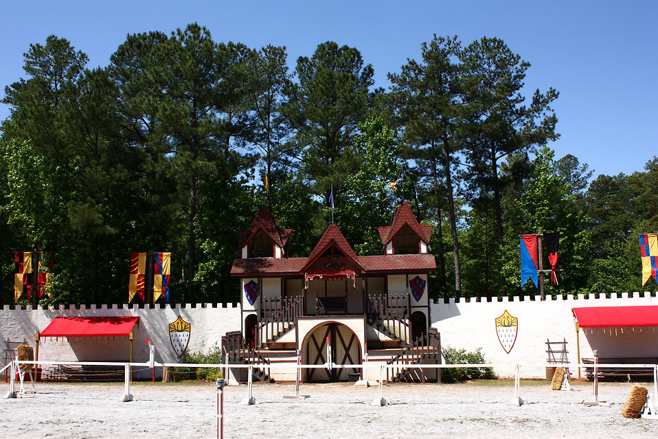 Jousting arena at the 2011 Georgia Renaissance Festival : Free Stock Photo
