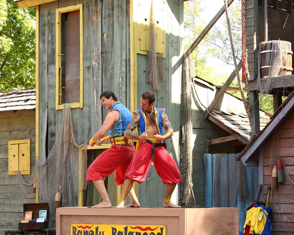 Acrobats of the Barely Balanced act at the 2011 Georgia Renaissance Festival : Free Stock Photo