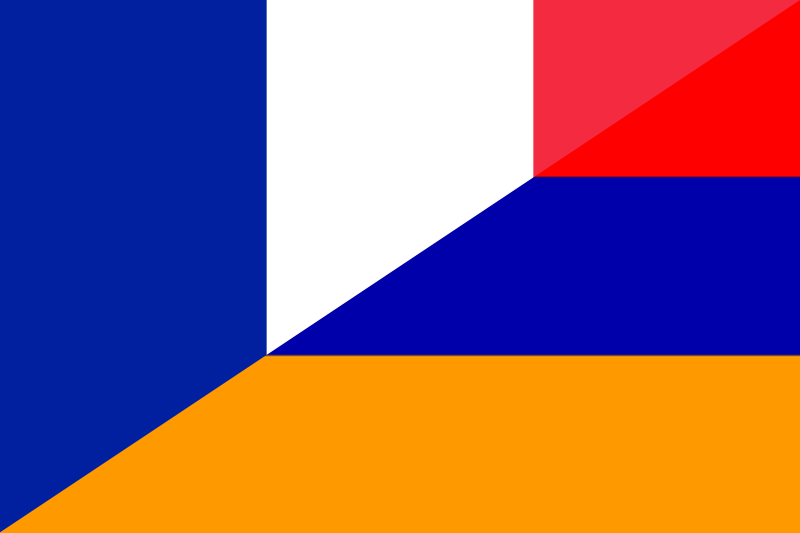 Illustration of a French and Armenian flag : Free Stock Photo