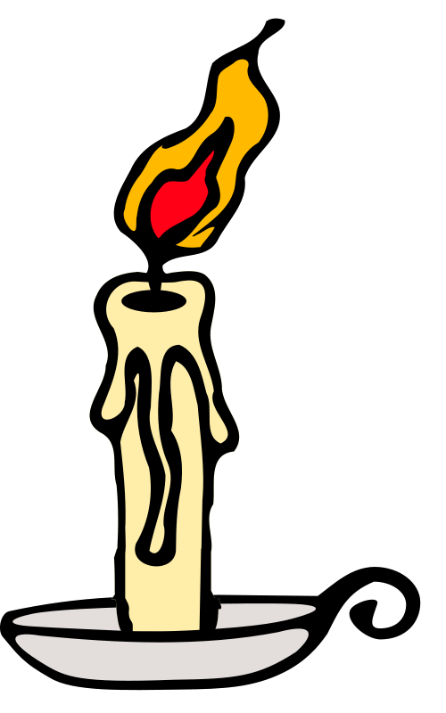 Illustration of a burning candle : Free Stock Photo