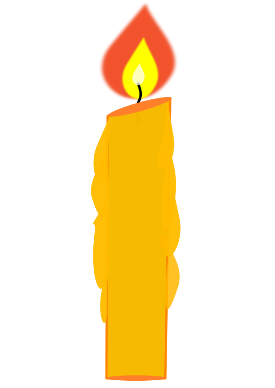 Illustration of a candle with a burning flame : Free Stock Photo