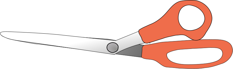 Illustration of a pair of scissors : Free Stock Photo