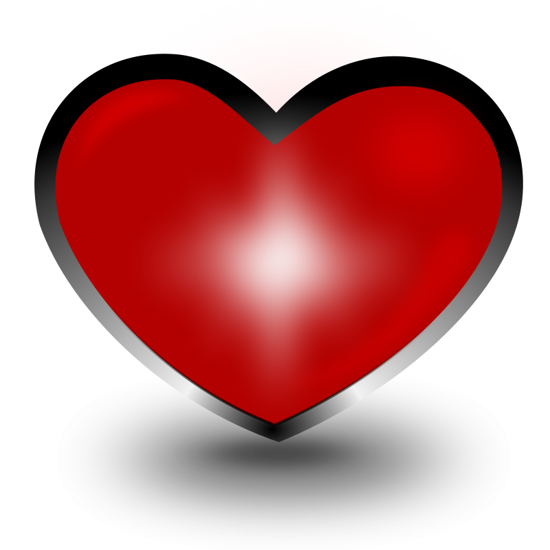 red heart clip art free. Illustration of a red heart.