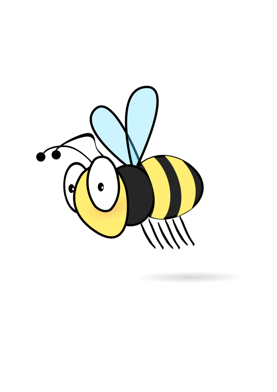 Illustration of a cartoon bee : Free Stock Photo