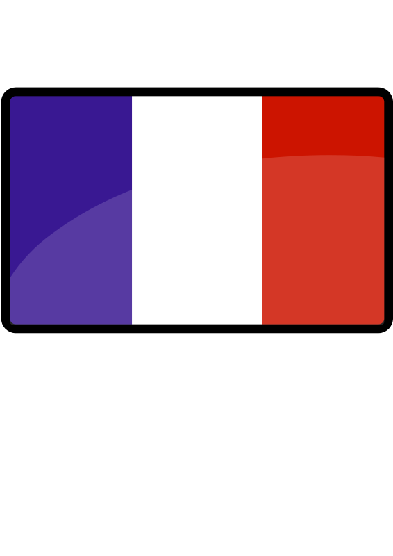 Illustration of a French flag : Free Stock Photo