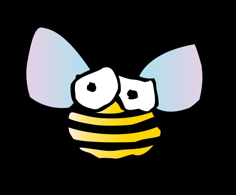 Illustration of a cartoon bee : Free Stock Photo