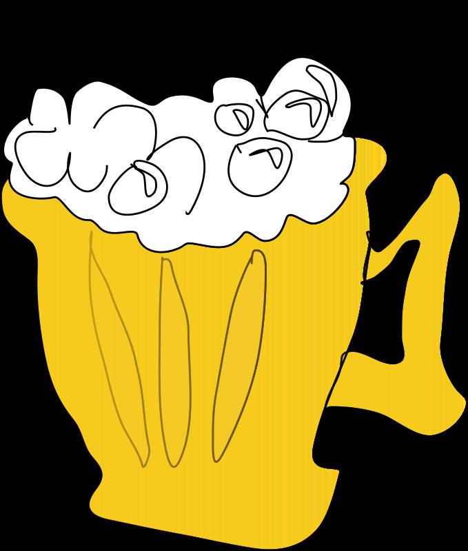 Illustration of a mug of beer : Free Stock Photo