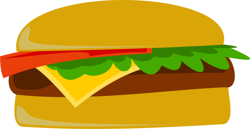 Illustration of a cheeseburger : Free Stock Photo