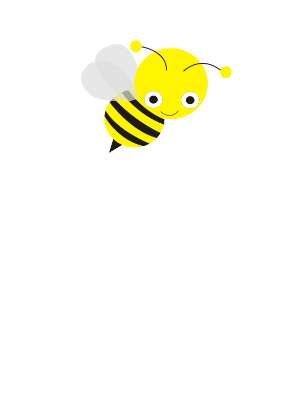 Illustration of a cartoon bee.