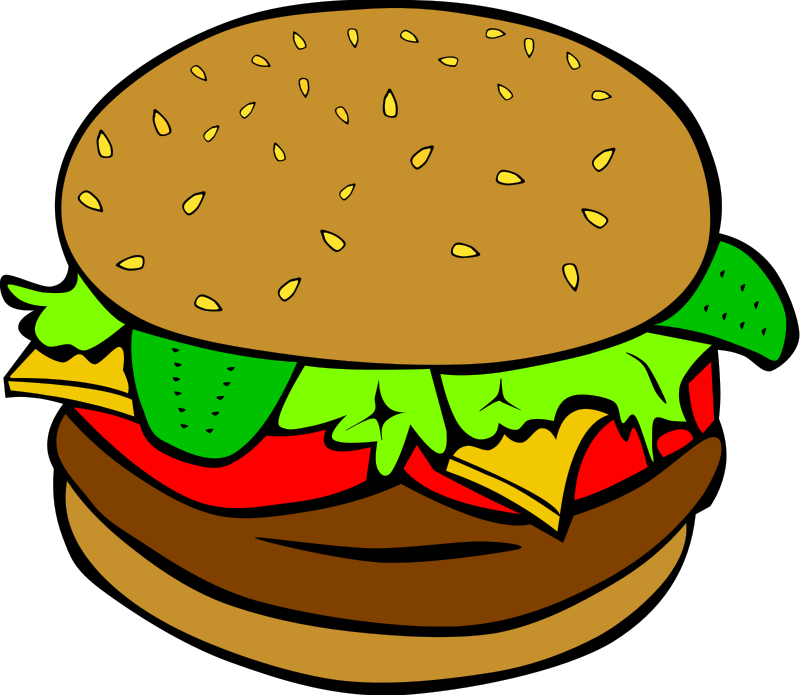 Illustration of a hamburger : Free Stock Photo