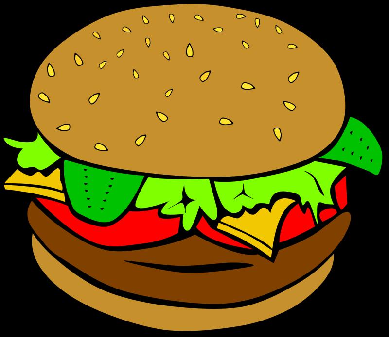 Illustration of a hamburger : Free Stock Photo