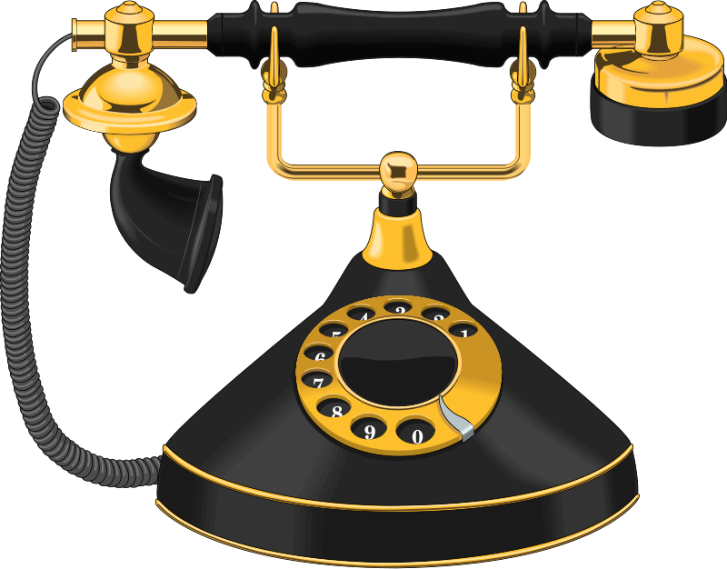 Illustration of a an antique telephone : Free Stock Photo
