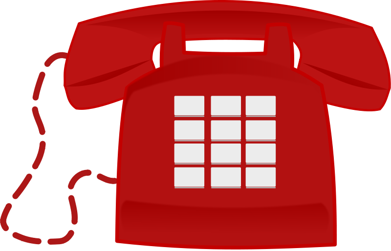 Illustration of a red telephone : Free Stock Photo