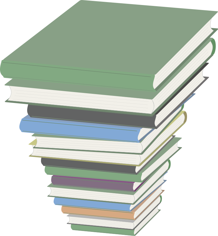 Illustration of a stack of books : Free Stock Photo