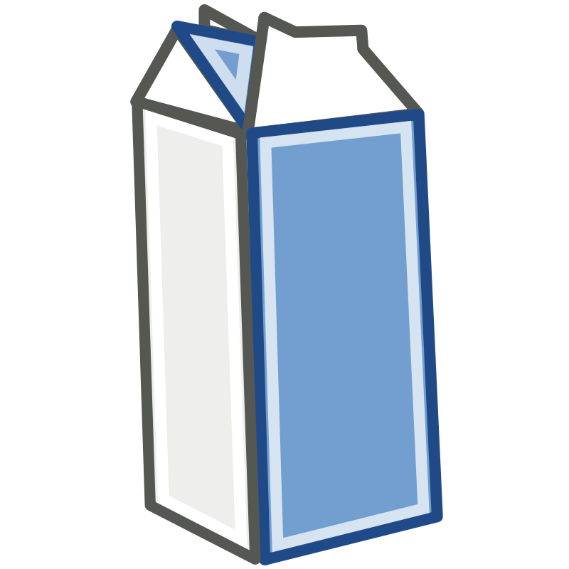 Open Milk Carton Of a carton of milk