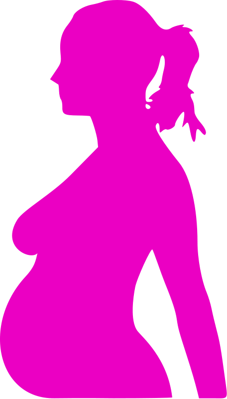 Illustration of a pregnant woman silhouette : Free Stock Photo
