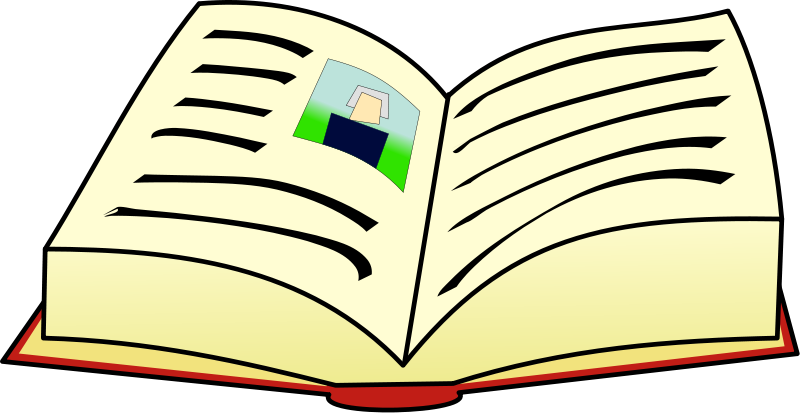 Illustration of an open book : Free Stock Photo