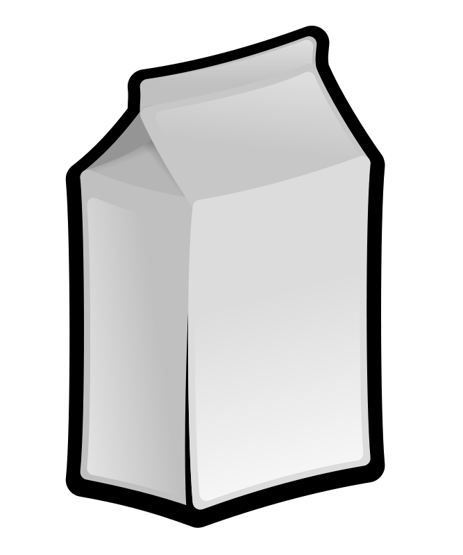 Illustration of a carton of milk : Free Stock Photo