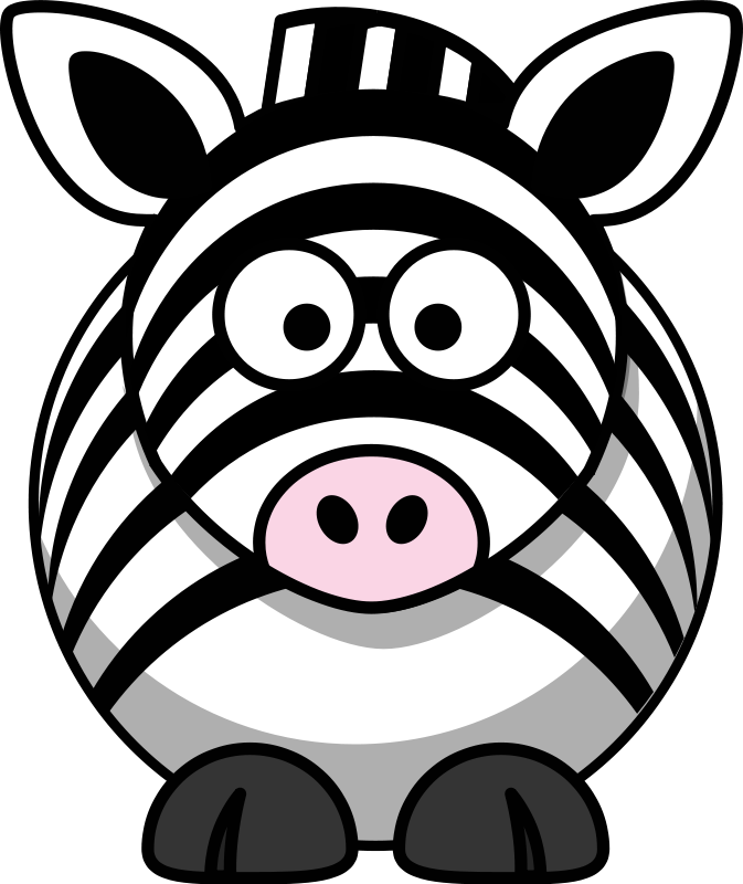 Illustration of a cartoon zebra.
