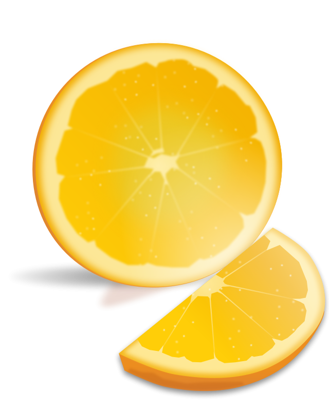 Illustration of an orange slice : Free Stock Photo
