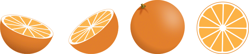 Illustration of oranges : Free Stock Photo