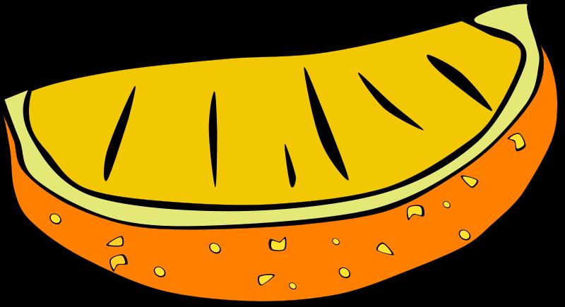 Illustration of an orange slice : Free Stock Photo