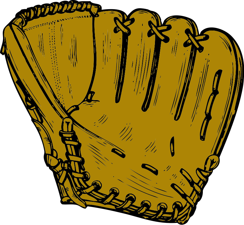 Illustration of a baseball mitt : Free Stock Photo