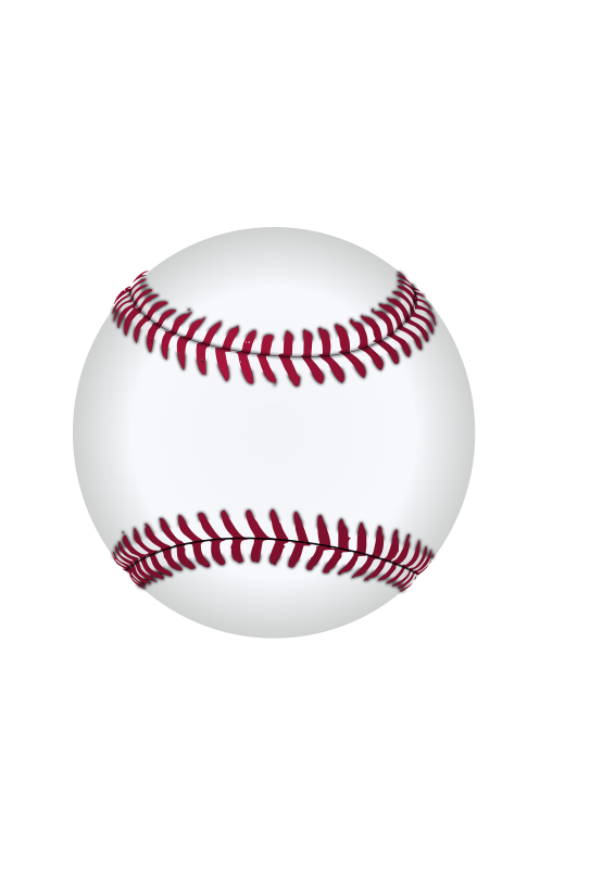 Illustration of a baseball : Free Stock Photo