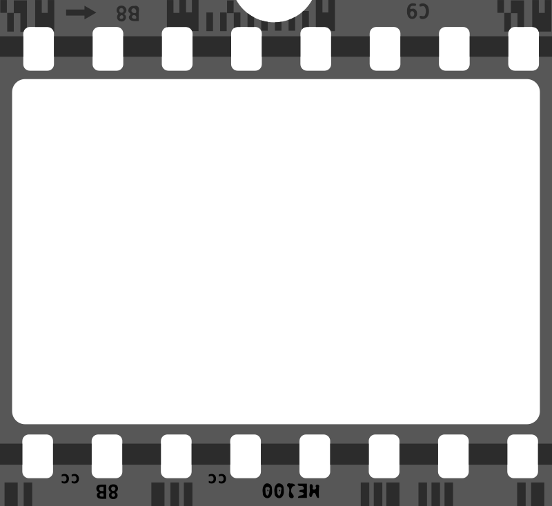 Illustration of a filmstrip.