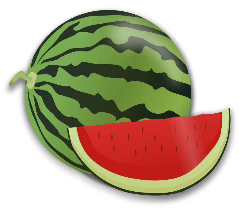 Illustration of a watermelon slice : Free Stock Photo