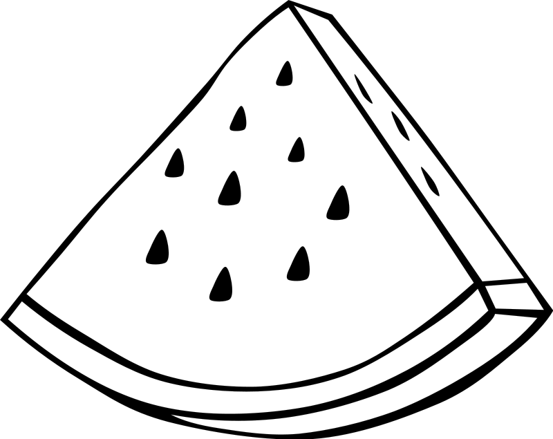 Illustration of a watermelon slice : Free Stock Photo