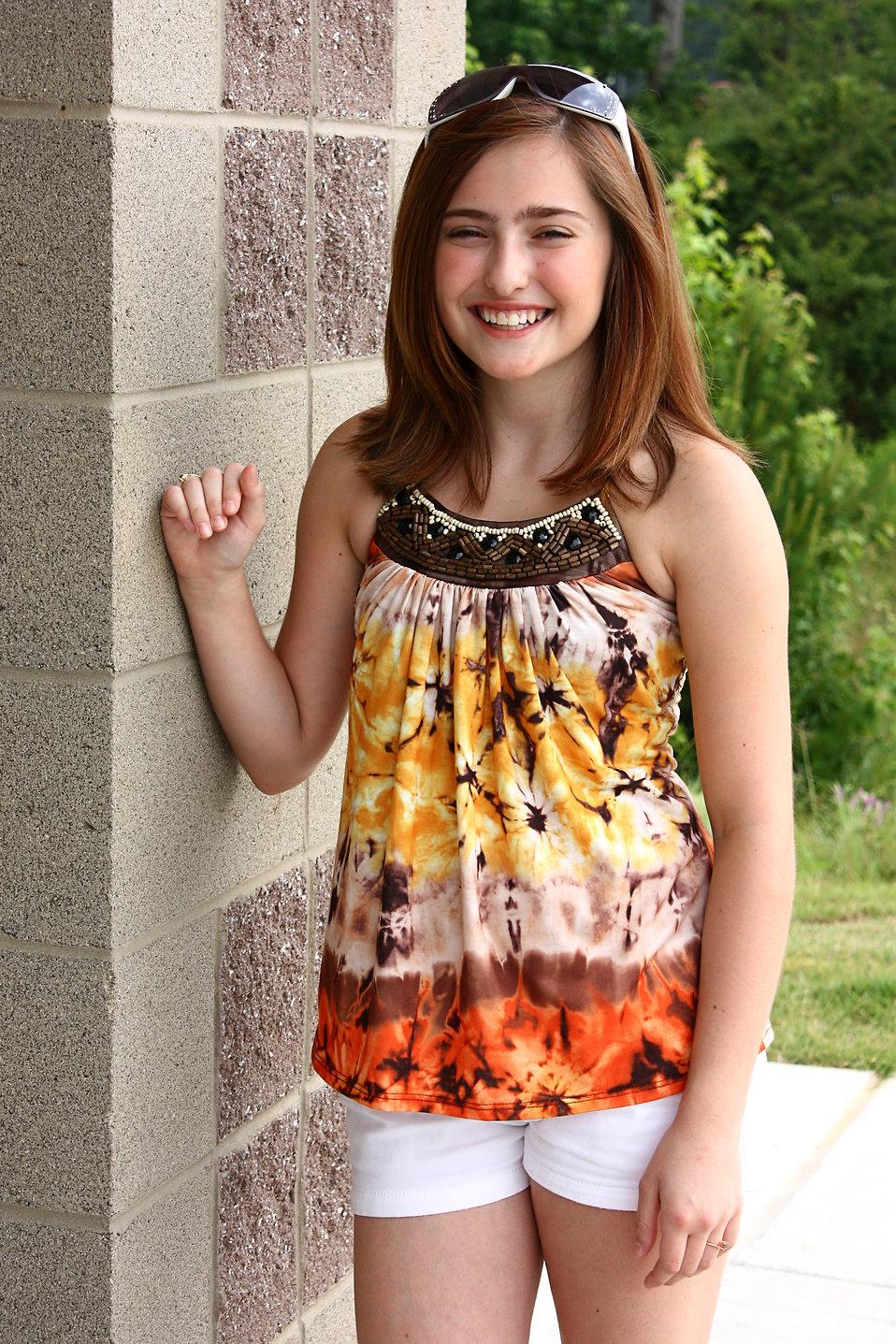 A Cute Young Girl Posing