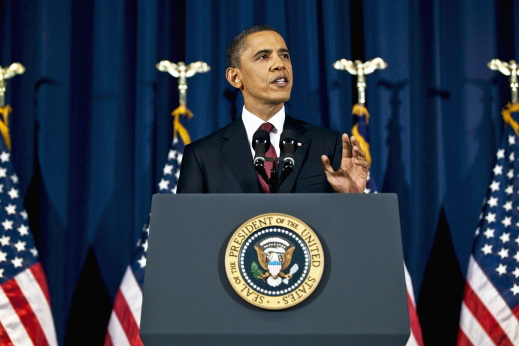 President Barack Obama delivering an address : Free Stock Photo