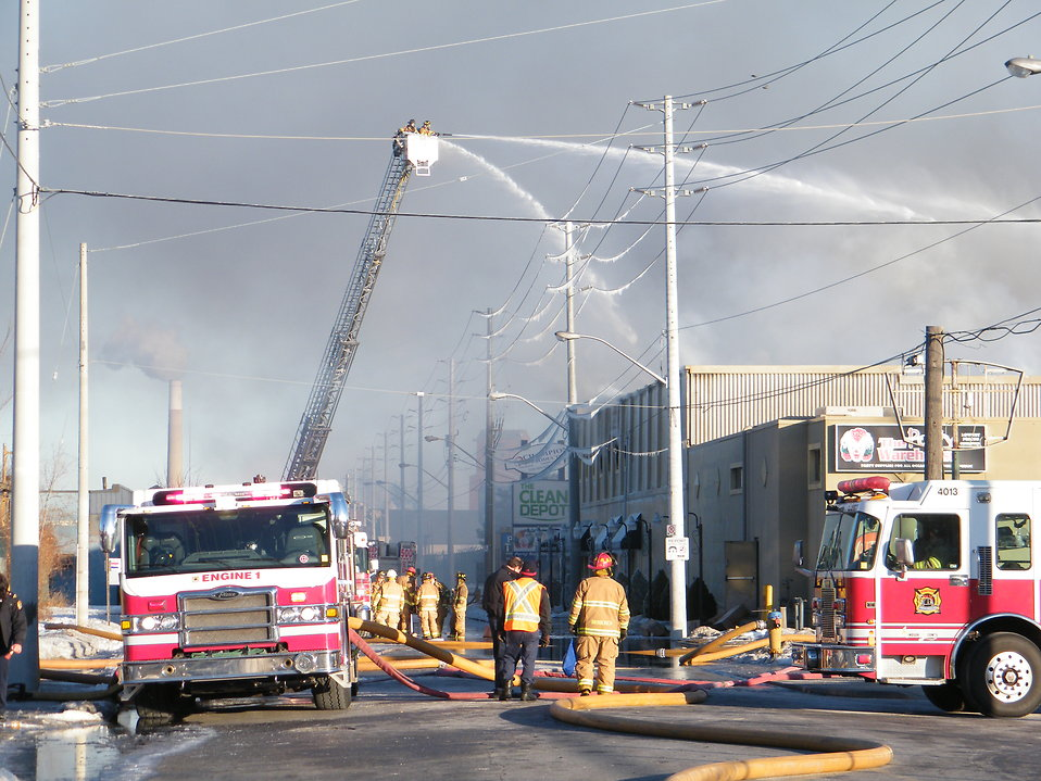 Warehouse Fire : Free Stock Photo