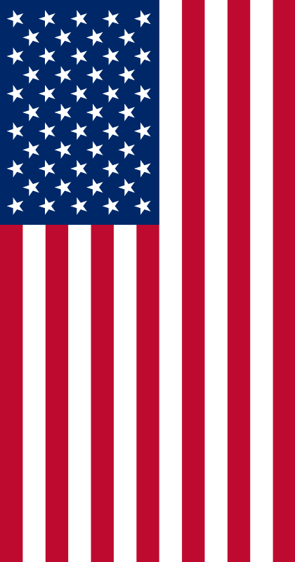 Vertical illustration of an American flag : Free Stock Photo