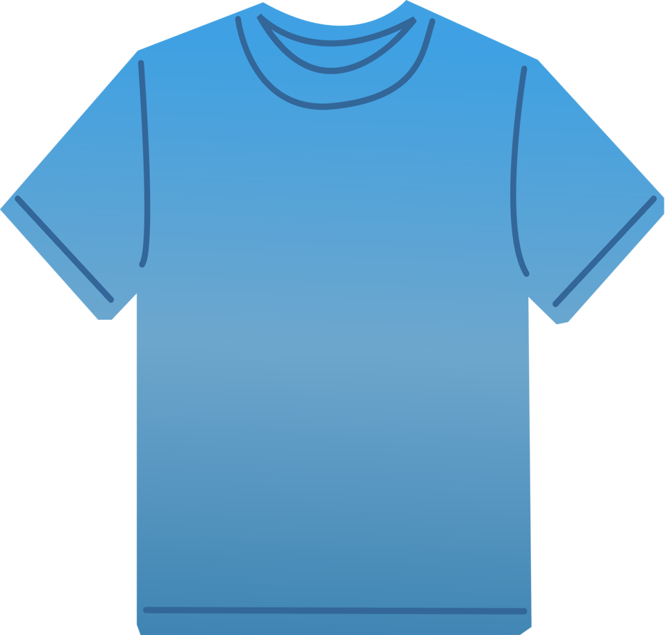 Illustration of a blank blue t-shirt : Free Stock Photo