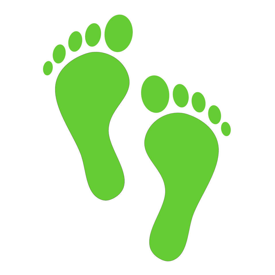 Illustration of green footprints : Free Stock Photo