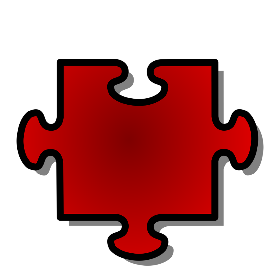 Illustration of a red puzzle piece : Free Stock Photo