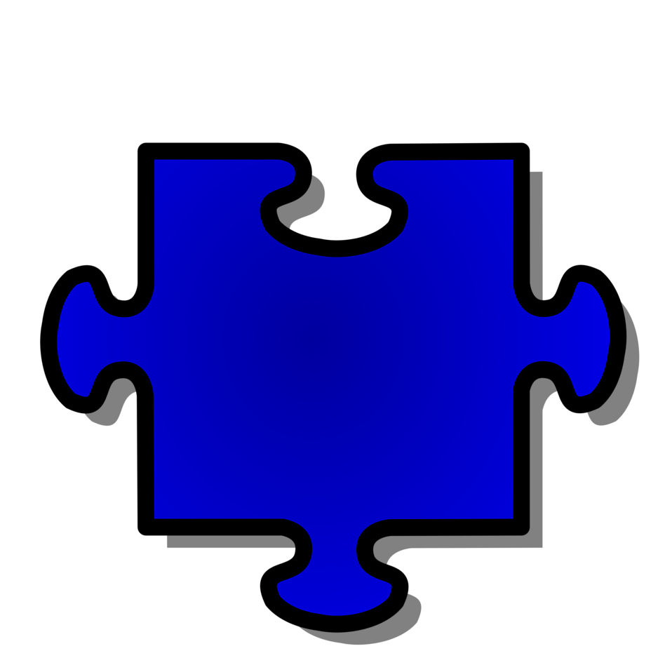 Illustration of a blue puzzle piece : Free Stock Photo