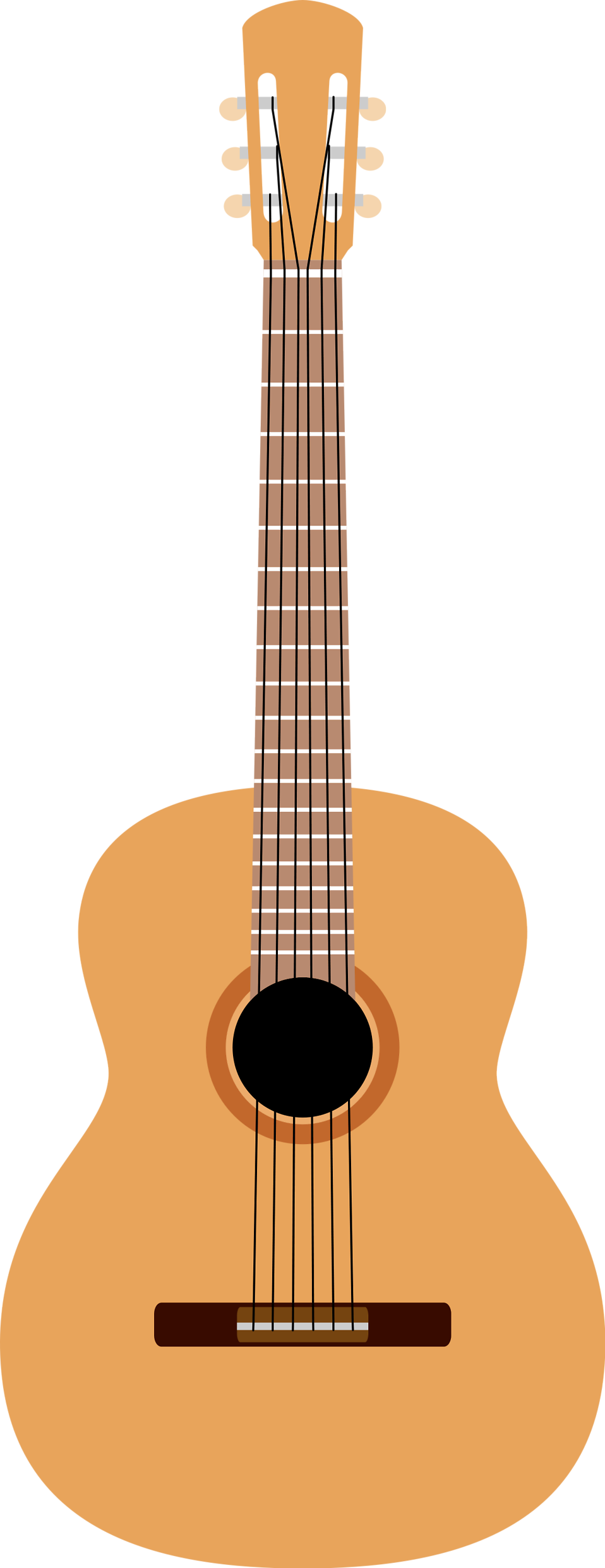 Illustration of an acoustic guitar : Free Stock Photo
