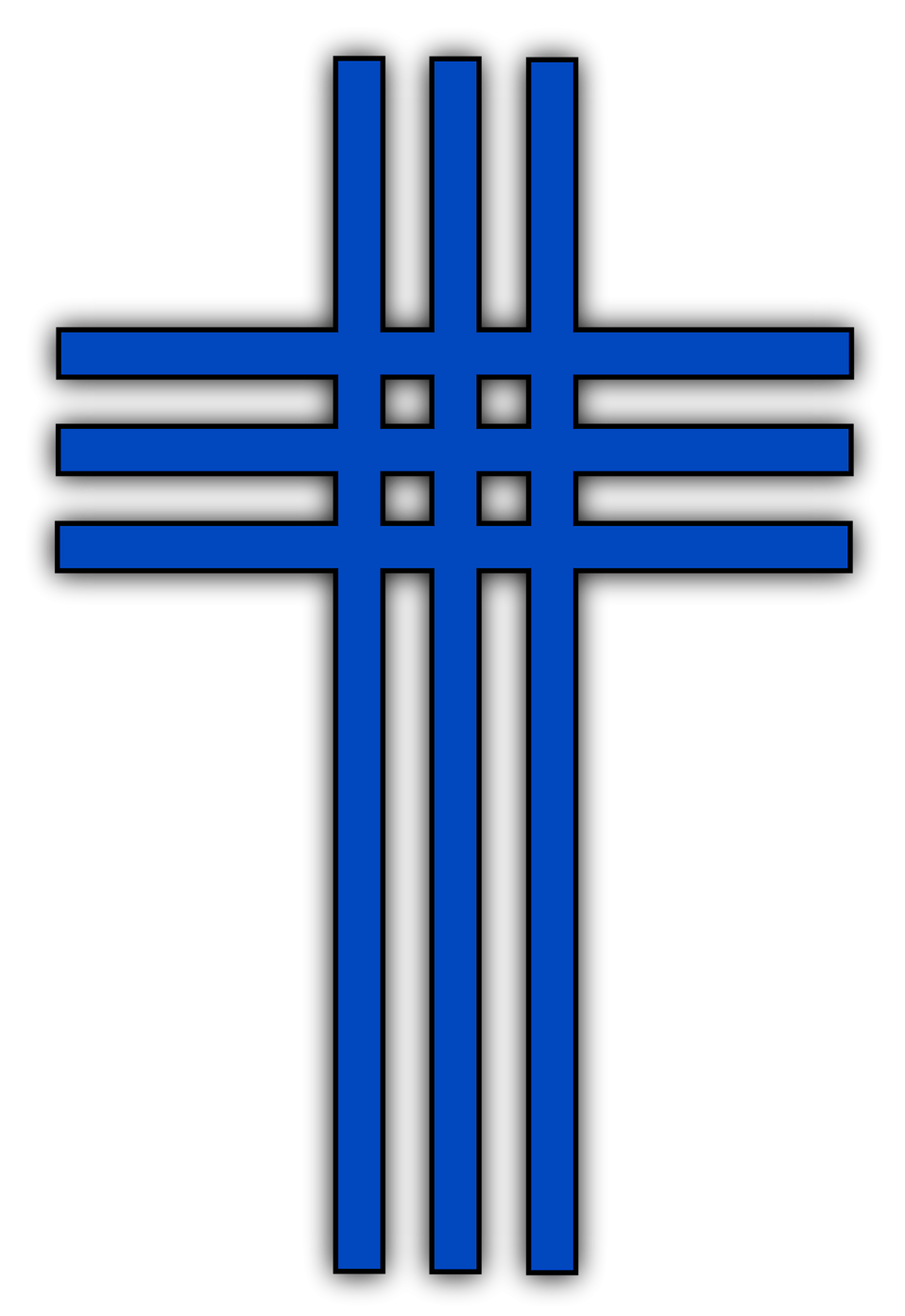 Illustration of a cross with a transparent background.