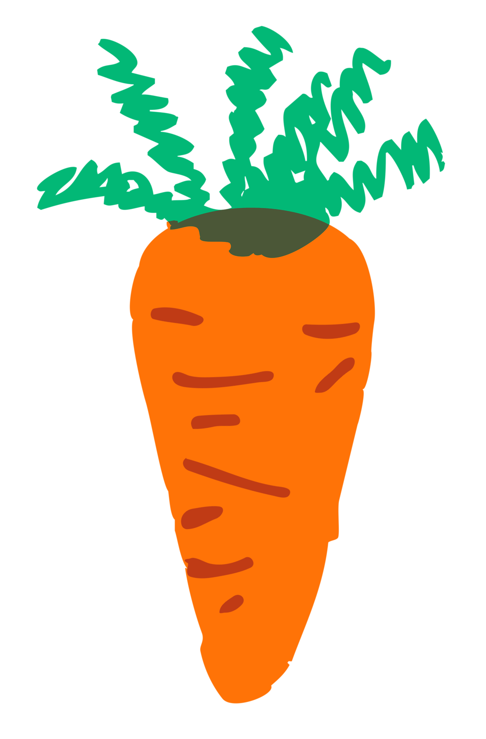 Illustration of a carrot : Free Stock Photo